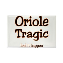 Oriole Tragic Rectangle Magnet (100 pack)