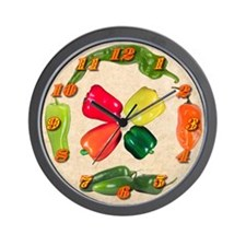 Peppers Wall Clock