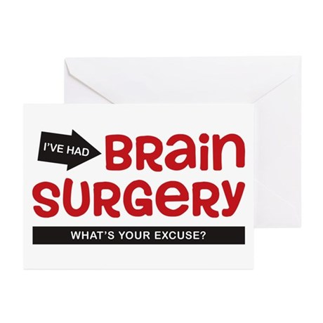 Brain Surgery Greeting Cards (Pk of 10)