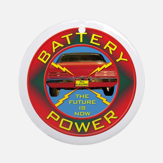 Battery Power Ornament (Round)