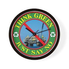 Say no to oil Wall Clock