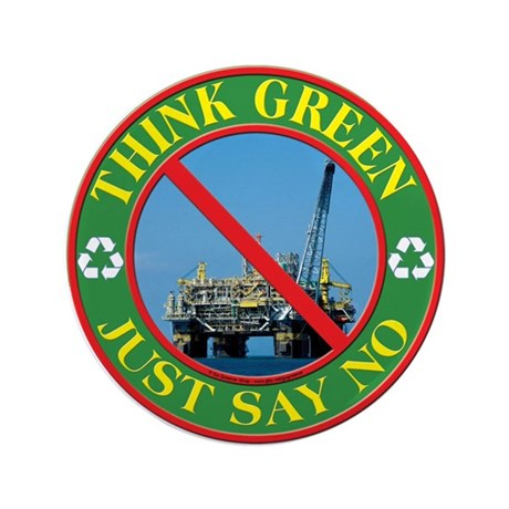 "Say no to oil 3.5"" Button (100 pack)"