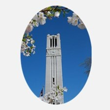 NC State Bell Tower Ornament (Oval)