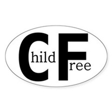 Childfree Oval Decal
