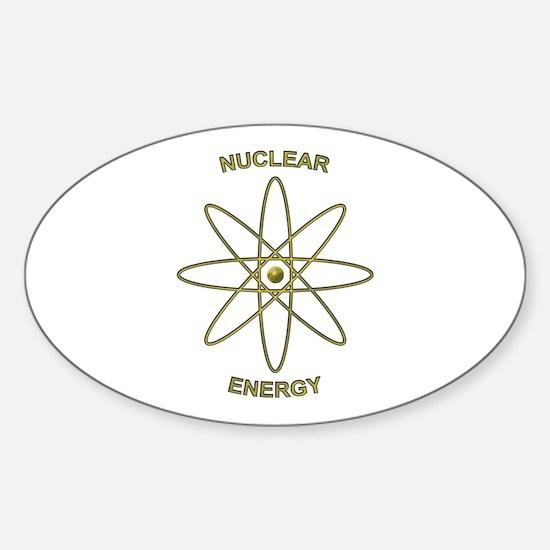 Nuclear Energy Sticker (Oval)