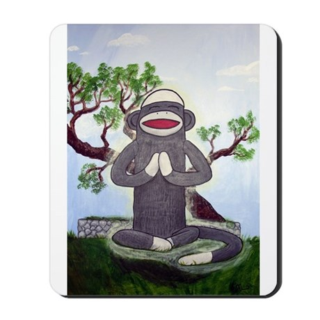 Sock Monkey Nirvana Mousepad