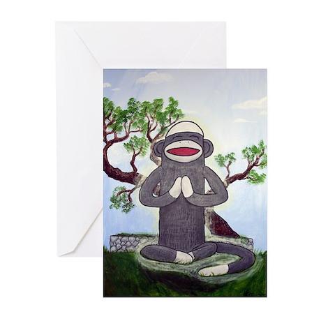 Sock Monkey Nirvana Greeting Cards (Pk of 20)
