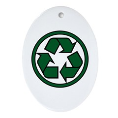 Recycle Symbol Ornament (Oval)