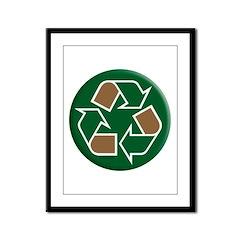 Wear the Green Framed Panel Print