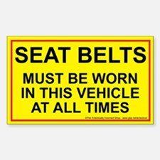 Fasten those belts Decal