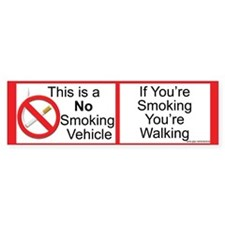 Smokeless vehicle Bumper Bumper Sticker