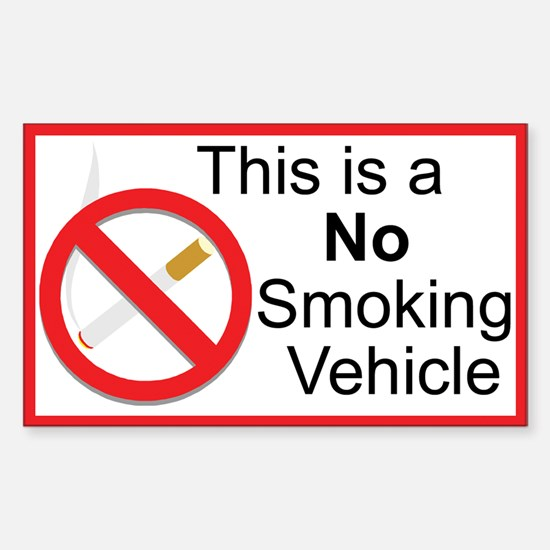 No Smoking Sticker (Rectangle 10 pk)