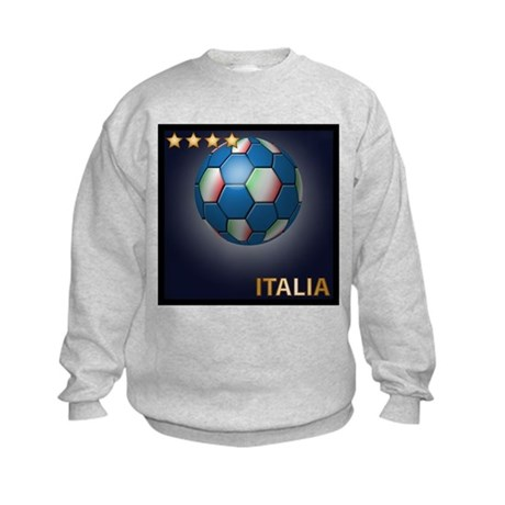Italia Soccer Ball Kids Sweatshirt