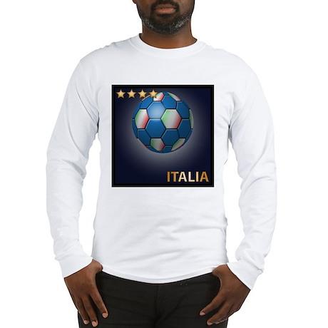 Italia Soccer Ball Long Sleeve T-Shirt