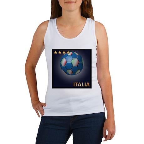 Italia Soccer Ball Women's Tank Top