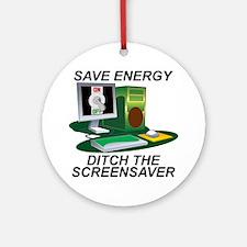 Save energy Ornament (Round)