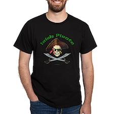 Irish Pirate Black T-Shirt