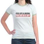 Piss Off A Liberal Jr. Ringer T-Shirt
