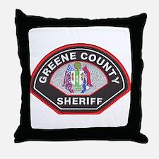 Greene County Sheriff Throw Pillow