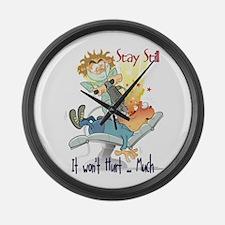 No Pain Large Wall Clock