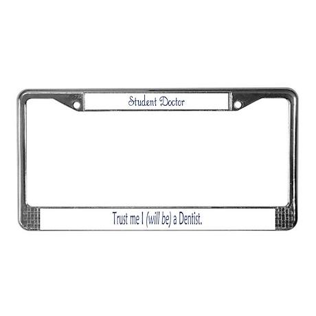 Student Doctor License Plate Frame