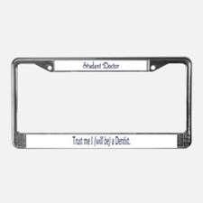 Student Doctor License Plate Frame