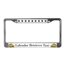 Labrador Retriever Taxi License Plate Frame