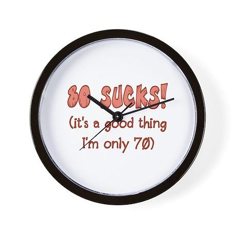 70th Attitude Sucks Wall Clock