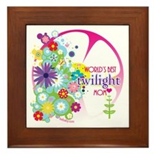 World's Best Twilight Mom Pink Framed Tile