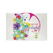 World's Best Twilight Mom Pink Rectangle Magnet (1