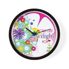 World's Best Twilight Mom Pink Wall Clock