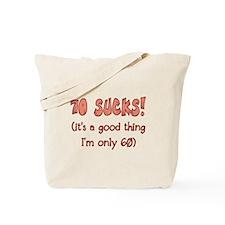 60th Attitude Sucks Tote Bag