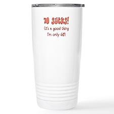 60th Attitude Sucks Stainless Steel Travel Mug