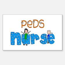 Pediatrics/NICU/PICU Sticker (Rectangle 10 pk)