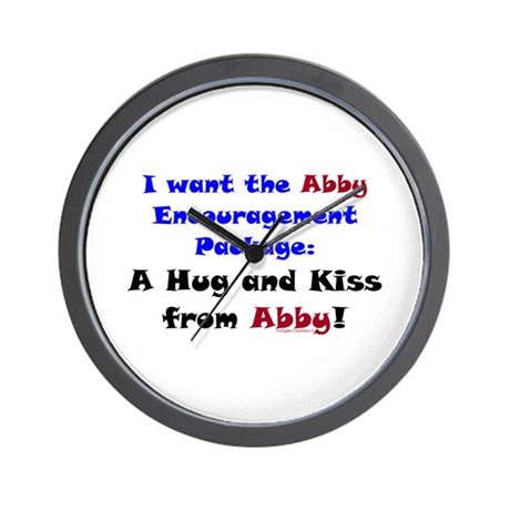 Abby Encouragement Package Wall Clock