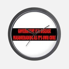 Government Is A Disease Wall Clock