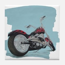 Motorcycle in Pastel Tile Coaster