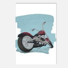 Motorcycle in Pastel Postcards (Package of 8)