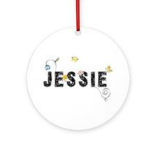 Jessie Floral Ornament (Round)