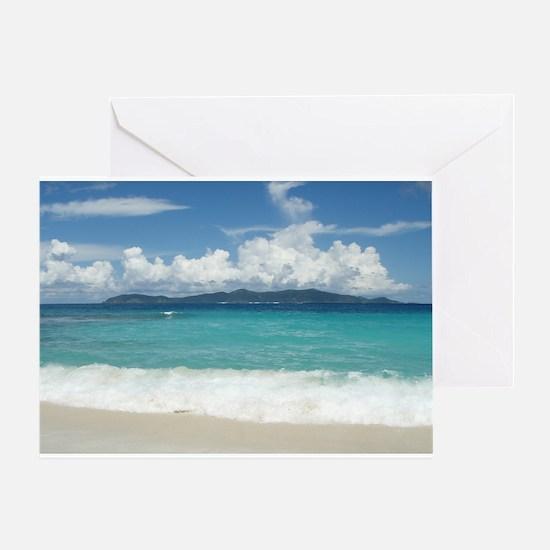 Jost Van Dyke on the Horizon Greeting Card