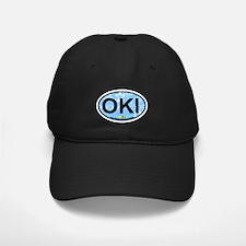 Oak Island NC - Oval Design Baseball Hat