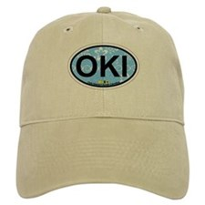Oak Island NC - Oval Design Baseball Cap