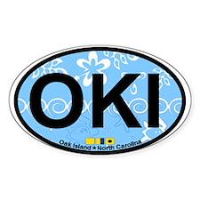 Oak Island NC - Oval Design Decal