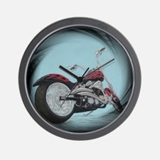 motorcycle in pastel Wall Clock