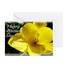 Yellow Tulip Mother's Day Card 5x7
