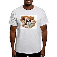 Kooikerhondje group Ash Grey T-Shirt