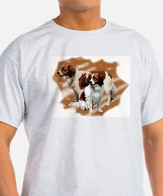 Kooikerhondje group Ash Grey T-Shirt