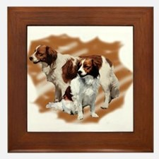 Kooikerhondje group Framed Tile