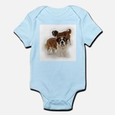 Saint Bernards in the snow Infant Creeper