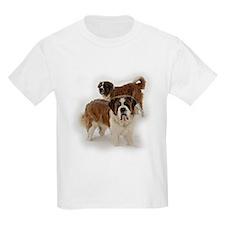 Saint Bernards in the snow Kids T-Shirt